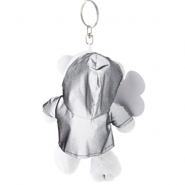 Plush Polar Bear In A Reflective Hoodie With A Key Ring