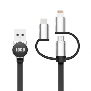 3 in 1 Logo Cable