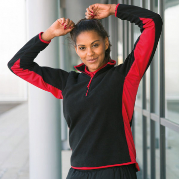 Women's Lightweight Microfleece Top With Side Panelling