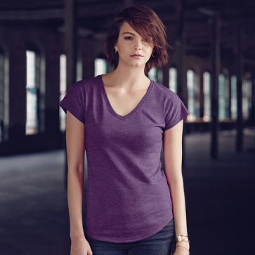 Anvil Women's Tri-Blend V-Neck Tee