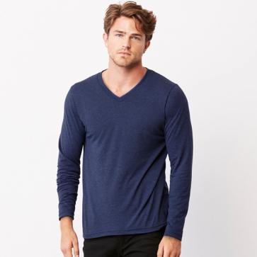 Triblend Long Sleeve V-Neck T-Shirt