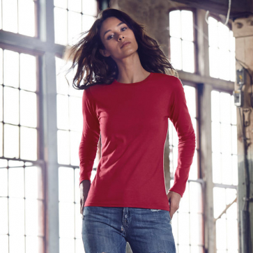Anvil Women's Fashion Basic Fitted Long Sleeve Tee