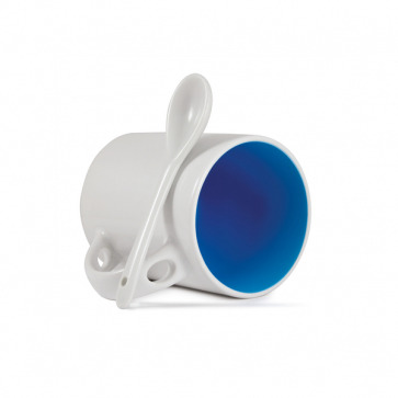 Inner ColourCoat Mug with Spoon