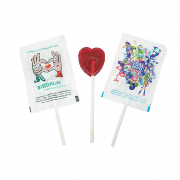 Mini Round Or Heart Shaped Lollipop