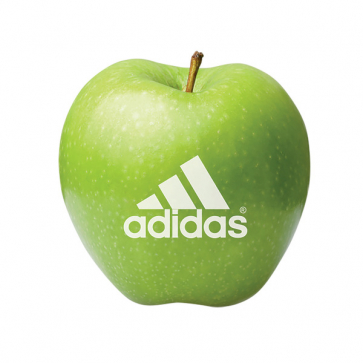 Green Apple With Printed Logo