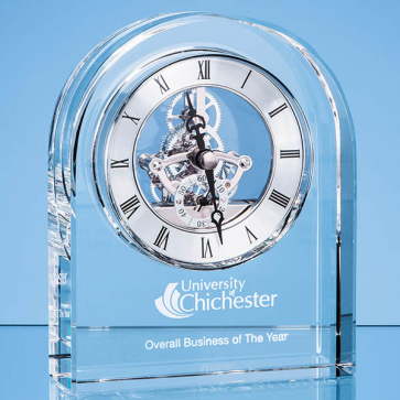 Optical Crystal Arched Clock