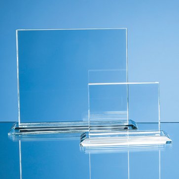 Clear Glass Horizontal Rectangle Award