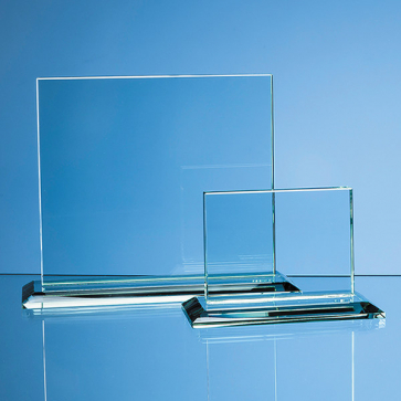 Jade Glass Horizontal Rectangle Award