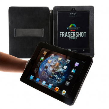 iPad Case with optional shoulder strap and a hand grip