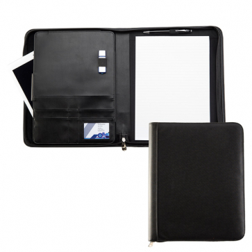 Houghton A4 Deluxe Zipped Conference Folder with Padded Tablet Pocket