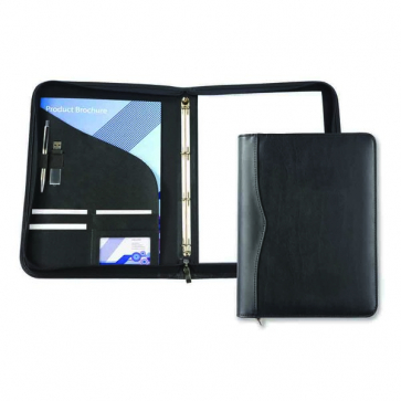 Black Houghton A4 Zipped Ring Binder
