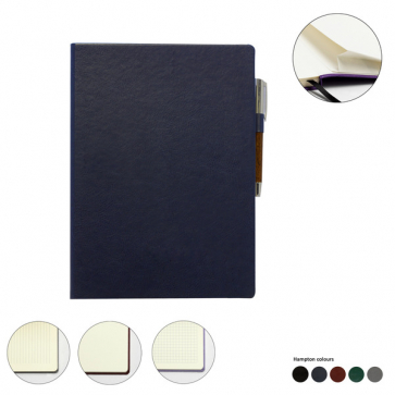 Hampton Leather A4 Casebound Notebook