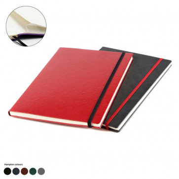 Hampton Leather A4 Casebound Notebook with Elastic Strap