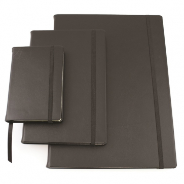 Sandringham Nappa Leather A4 Casebound Notebook with Elastic Strap