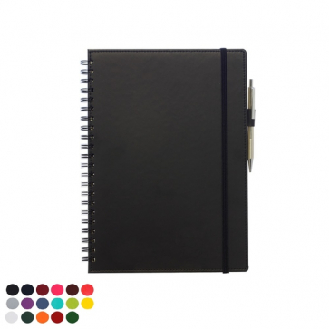 Belluno PU Colours A4 Wiro Souft Touch Notebook with Pen Loop