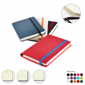 Pocket Casebound Notebook with Elastic Strap & Envelope Pocket