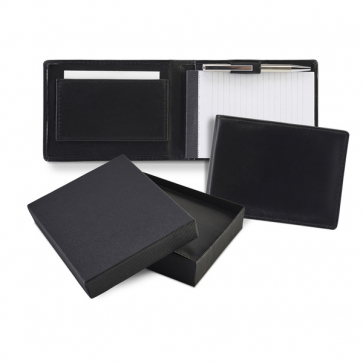 Sandringham Nappa Leather Flip Up Notepad Jotter with Pen