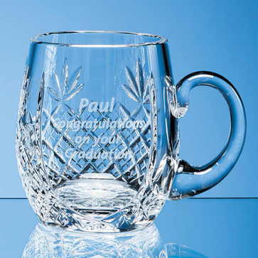Lead Crystal Barrel Panel Tankard