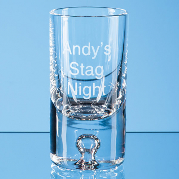 Tall Bubble Base Shot Glass