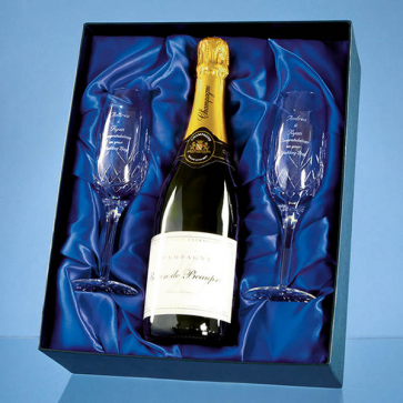 Champagne Set Satin Lined Presentation Box