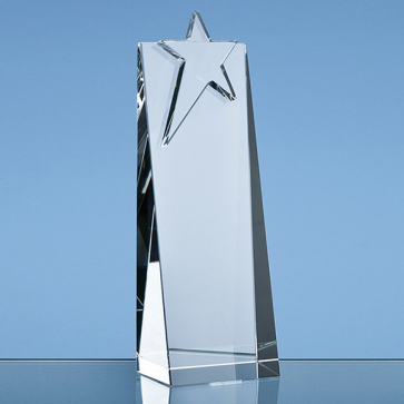 Optical Crystal Star Rectangle Award