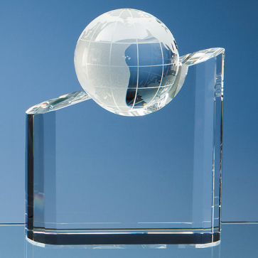 Optical Crystal Globe Mountain Award