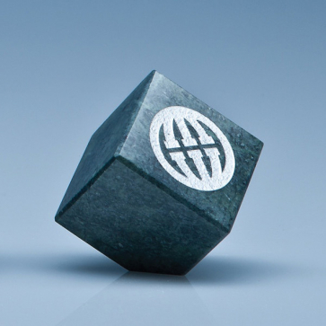 Green Marble Bevel Edged Cube
