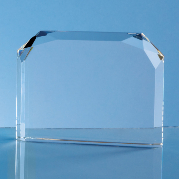 Optical Crystal Horizontal Facet Rectangle Award