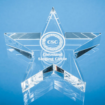 Optical Crystal Star Paperweight