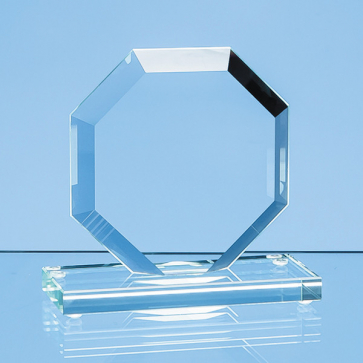 Jade Glass Bevelled Edge Octagon Award