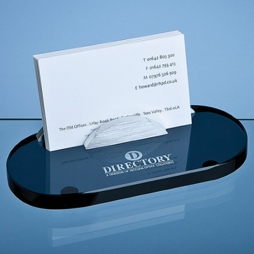 Smoked Glass Business Card Holder