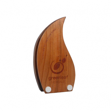 Real Wood Block Award With Wood Face Plate