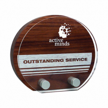 Real Wood Sunrise Award With Acrylic Front