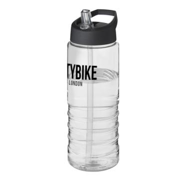 H2O Treble 750ml Spout Lid Sport Bottle