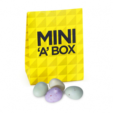 Branded Mini 'A' Box - Chocolate Speckled Eggs
