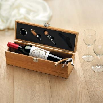 Tardor Wine Set In Bamboo Box