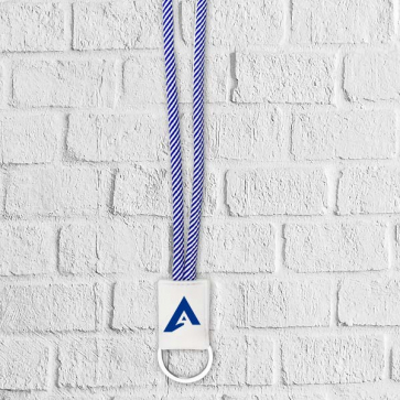 Two Tone Lanyard with PVC Badge