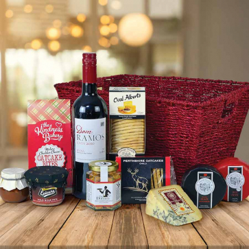 Luxury Red Wine & Cheese Hamper