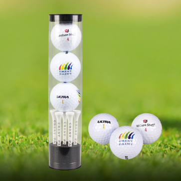 Three Wilson Ultra Ball Gift Set with Tees