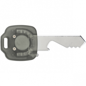 Key Shaped Metal Bottle Opener With A Push Button LED Light