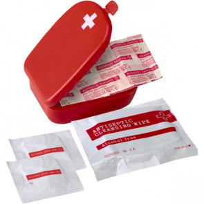 First Aid Kit In A Plastic Case