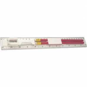 Plastic Ruler With Two Pencils