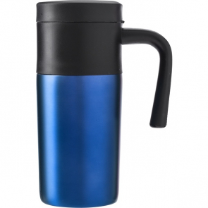 Stainless Steel Travel Mug With Plastic Handle