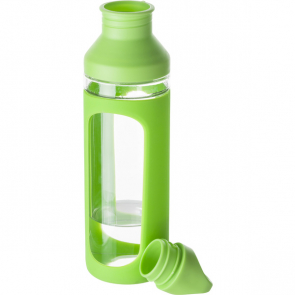 Glass Drinking Bottle With Silicon Grip Design