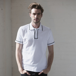 Contrast Piped Polo Shirt