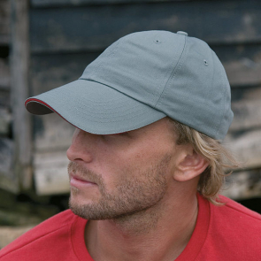 Herringbone Cap With Sandwich Peak