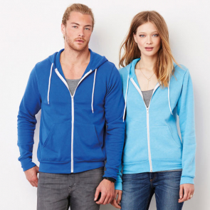Unisex Poly/Cotton Fleece Full Zip Hoodie