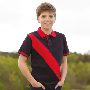 Kids Diagonal Stripe Polo