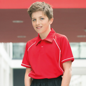 Kids Piped Performance Polo