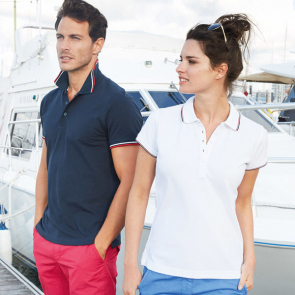 Women's Contrast Short Sleeve Polo